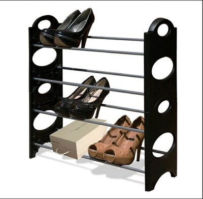 Полка для обуви на 4 яруса, вмещает 16 пар обуви
