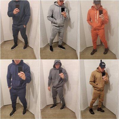теплий чоловічий костюм 4 кольори