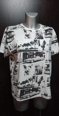 футболка принт oodji