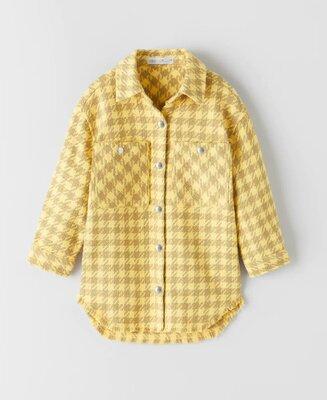 Куртка рубашка оверсайз для девочки от zara