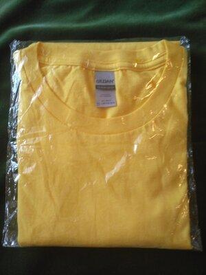 Желтая мужская футболка из качественного хлопка XL-XXL 52-54р. .