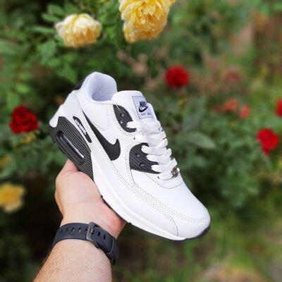 Кроссовки женские Nike air max 90 белые с чёрным