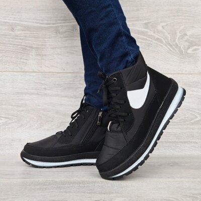 Женские зимние ботинки на молнию шнуровку БТ-12ч