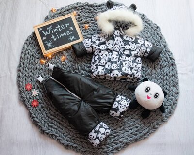 Детский зимний комбинезон куртка полукомбинезон