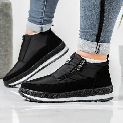 Женские зимние ботинки - кроссовки на платформе Бт-5ч-2