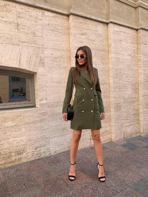 Платье пиджак костюмка