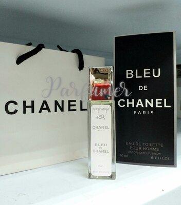 Духи мужские с феромоном Bleu de Chanel, древесный пряный аромат, парфюм, тестер, пробник, туалетная
