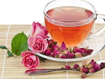 Чай мятный с розой. Вес 25 грамм