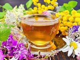 Чай мятный с лепестками цветов. Вес 25 грамм
