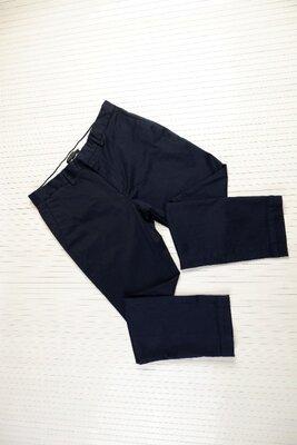 Брюки Сша мужские S теплые синие классика с карманами штаны banana