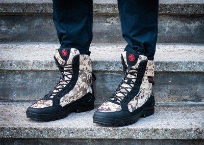 Зимові черевики берци камуфляжні чоловічі Бл-416