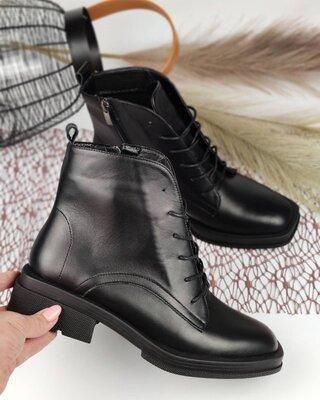 Женские кожаные ботинки, 2 цвета
