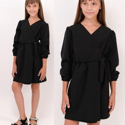 Детское платье для школы Черное платье для девочки Школьная форма vsl-7024667