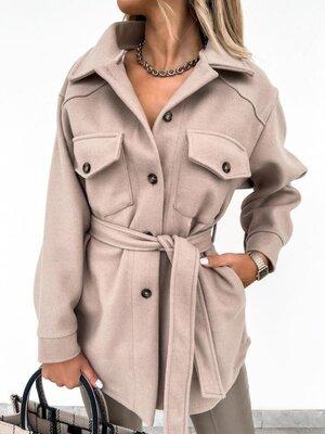 Пальто рубашка кашемир 2 цвета