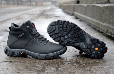 Продано: Мужские зимние ботинки Ecco,Columbia из натуральной кожи полностью