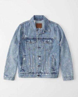 Джинсовая куртка Abercrombie & Fitch с брызгами краски. Оригинал