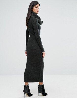 River island studio шерстяное платье гольф водолазка шерсть рубчик лапша