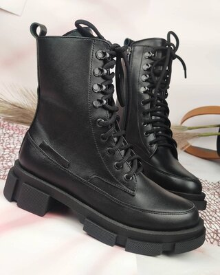 Женские кожаные ботинки, осень/зима
