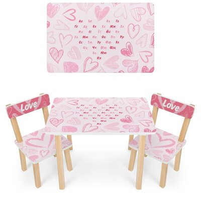 Дитячий столик зі стільчиками дерев'яний 501-118 UA