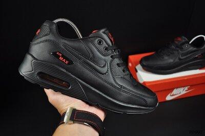 Кроссовки мужские Nike Air Max 90, черные с красным