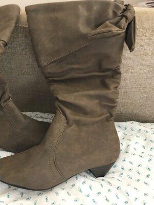 Акция Удобные модные сапожки сапожки по цене туфель размеры 37 и 38-полномеры