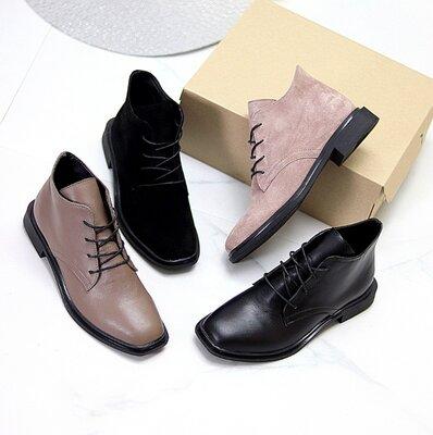 Ботинки Fix. Натуральная замша и кожа.