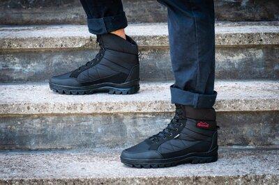 Ботинки берцы зимние мужские черного цвета бл-410ч