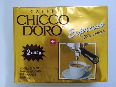 CHICCO DORO ESPRESSO, 250г 100 арабика высококачественный швейцарский кофе