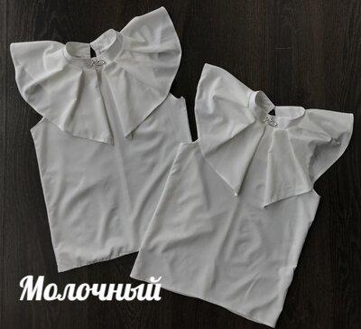 Продано: Красивенная легкая блуза украшена брошью