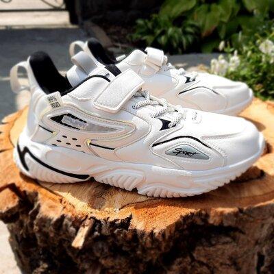 Белоснежные кроссовки на девочку 32-37