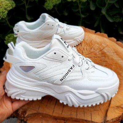 Белые кроссовки на высокой платформе 36-41 размеры