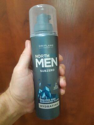 Пена для бритья и умывания 2 в 1 North For Men Subzero