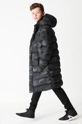 Продано: Удлиненная утепленная зимняя куртка Next, 3-16 л