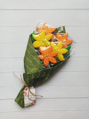 Букет из пряников,лилии