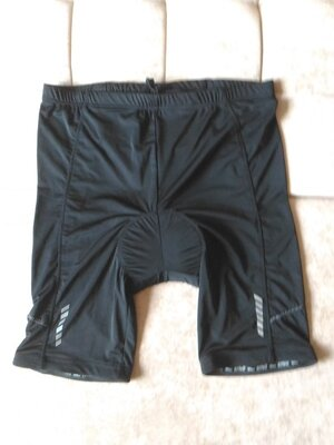 Велошорты, спортивные шорты Crivit Германия Цвет чёрный Светоотражатели размер xl