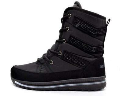 Ботинки сапоги женские черные зимние ПМ-3123
