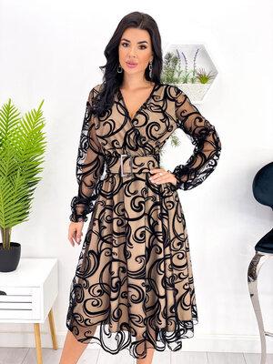 Платье флок на запах 42-52 р-р