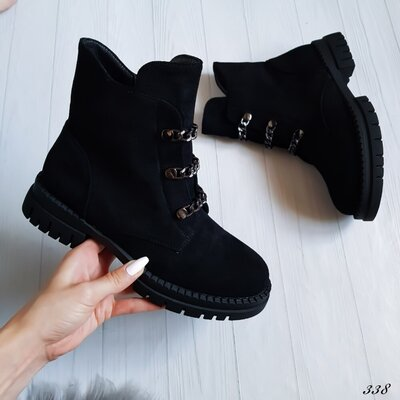 Ботинки женские черные демисезон Ботинки жіночі чорні осінь