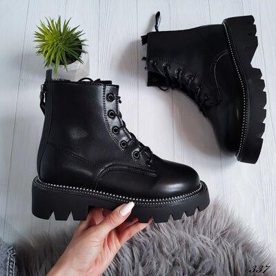 Ботінки демісезон чорні Ботинки женские черные осень