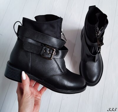 Продано: Ботинки женские черные демисезонные Ботінки демісезон чорні жіночі
