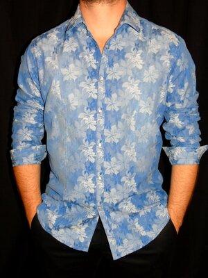 Италия Шикарная рубашка в принт - M - L
