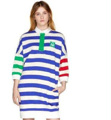 50-52 р Яркое трикотажное платье benetton