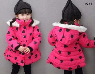 Теплая куртка для девочки. 1-2 2-3 3-4 года