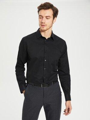 Черная мужская рубашка LC Waikiki/ЛС Вайкики с карманом на груди