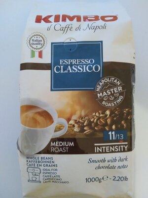 Кофе в зернах Kimbo espresso classico 1кг Италия