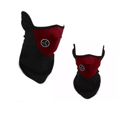 Продано: Бафф маска флис лыжная, Унисекс красная