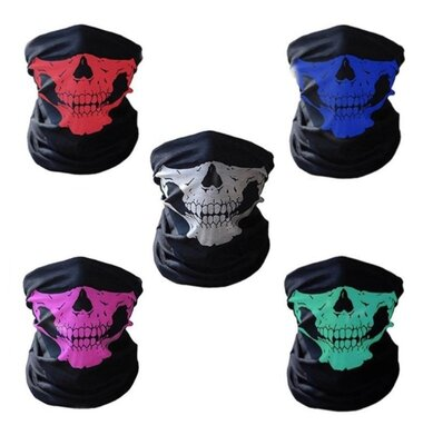 Продано: Бафф маска с рисунком черепа Челюсть , Унисекс