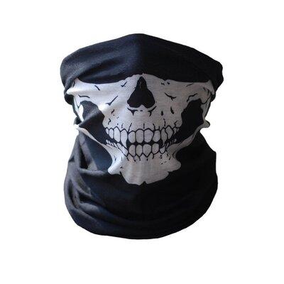 Продано: Бафф маска с рисунком черепа Челюсть , Унисекс белый