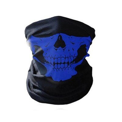 Продано: Бафф маска с рисунком черепа Челюсть , Унисекс синий
