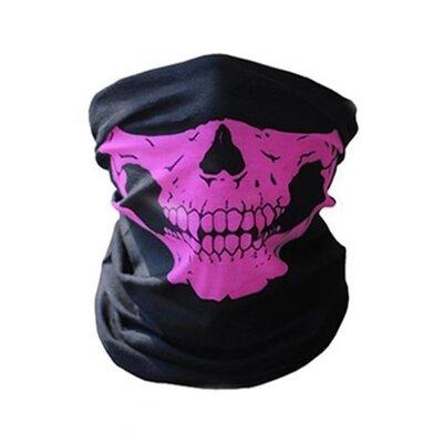 Продано: Бафф маска с рисунком черепа Челюсть , Унисекс розовый